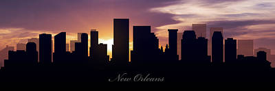 New Orleans Sunset Poster by Aged Pixel