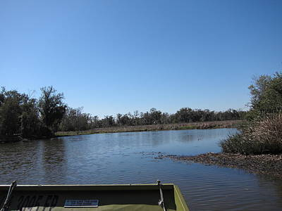 New Orleans - Swamp Boat Ride - 121269 Poster by DC Photographer