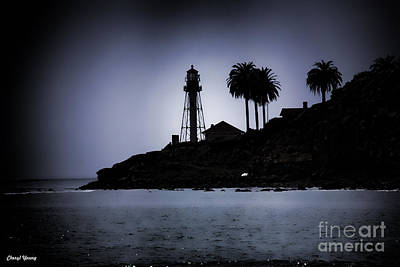 New Point Loma Lighthouse Silhouette Poster by Cheryl Young