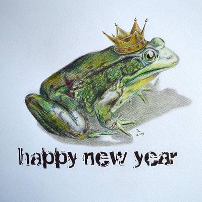 New Year Frog Poster by Tiago Azevedo