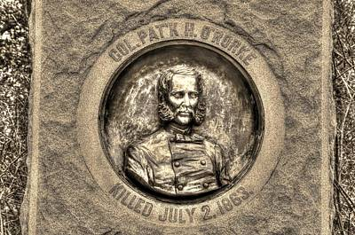 New York At Gettysburg - 140th Ny Volunteer Infantry Little Round Top Colonel Patrick O' Rorke Poster by Michael Mazaika