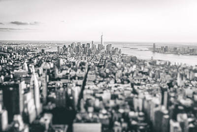 New York City - Above The Rooftops Poster by Vivienne Gucwa