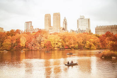 New York City - Autumn - Central Park Poster by Vivienne Gucwa