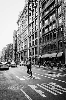 New York City Bicycle Ride - Soho Poster by Vivienne Gucwa