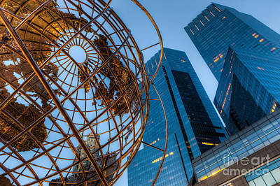 New York City Columbus Circle Landmarks I Poster by Clarence Holmes
