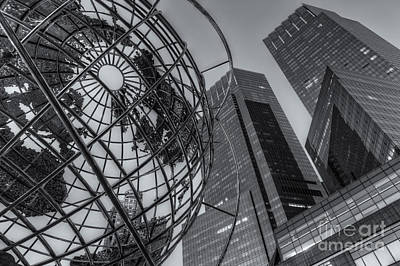 New York City Columbus Circle Landmarks II Poster by Clarence Holmes