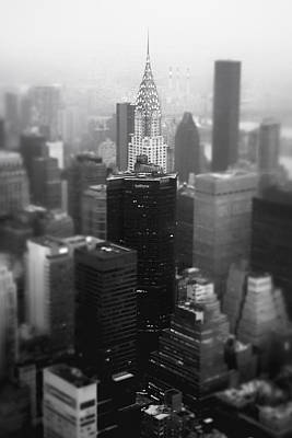 New York City - Fog And The Chrysler Building Poster by Vivienne Gucwa