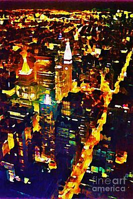 New York City From The Empire State Building Poster by John Malone JSM Fine Arts