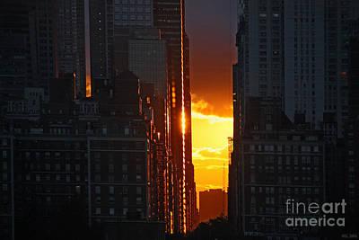 New York City Golden Light Poster by Meleah Fotografie