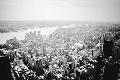 New York City Skyline - Foggy Day Poster by Vivienne Gucwa