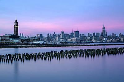 New York City Skyline Stillness Poster by Susan Candelario