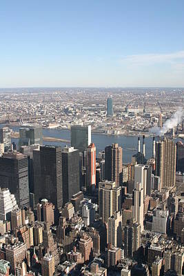 New York City - View From Empire State Building - 121218 Poster by DC Photographer