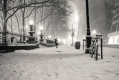 New York City Winter Night Poster by Vivienne Gucwa