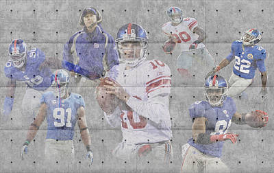 New York Giants Team Poster by Joe Hamilton