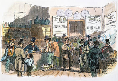 New York: Irish Ballots Poster by Granger