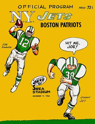 New York Jets 1966 Program Poster by Big 88 Artworks