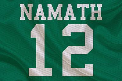 New York Jets Joe Namath Poster by Joe Hamilton