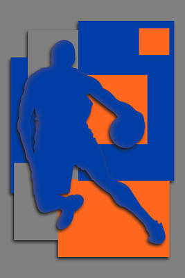 New York Knicks Art Poster by Joe Hamilton