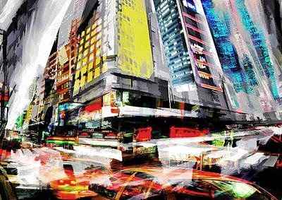 New York Lights Poster by Neil Hemsley