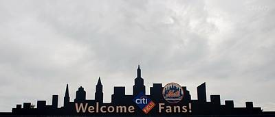 New York Mets Skyline Poster by Rob Hans