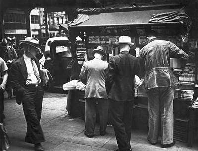 New York Newspaper Stand Poster by Underwood Archives