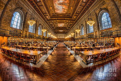 New York Public Library Main Reading Room Vii Poster by Clarence Holmes