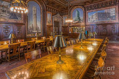 New York Public Library Periodicals Room I Poster by Clarence Holmes