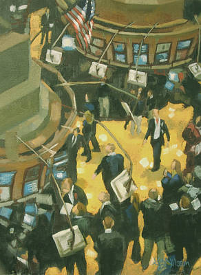 New York Stock Exchange Poster by Gloria  Nilsson