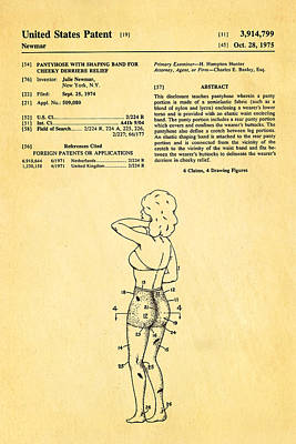 Newmar Pantyhose Patent Art 1975 Poster by Ian Monk