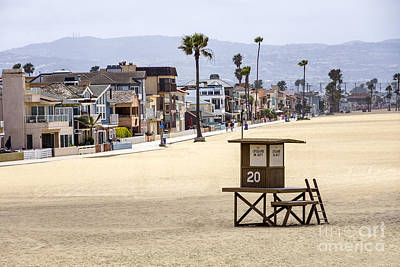 Newport Beach Waterfront Luxury Homes Poster by Paul Velgos
