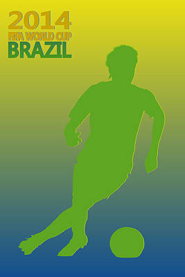 Neymar Brazil World Cup Poster by Joe Hamilton