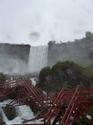 Niagara Falls In The Rain Poster by Rhonda Chase