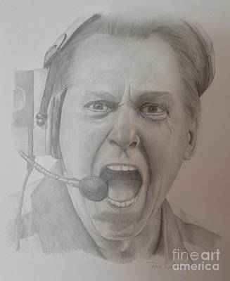 Nick Saban Motivational Speaker Poster by Ron Cartier