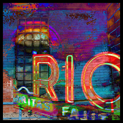 Night At The Rio Poster by Tammy Beard