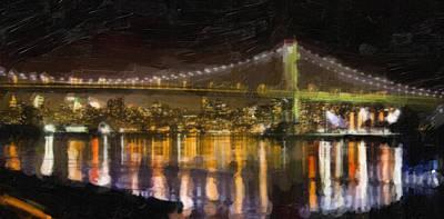 Night Bridge Poster by Emmanouil Klimis