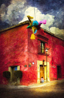 Night Falls On Oaxaca - Festive Mexico Poster by Mark E Tisdale