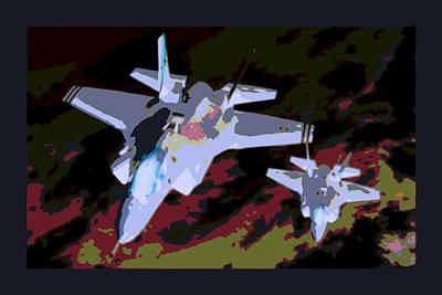 Night Mission At Dusk Lockheed Martin F-35 Lightening II Poster by L Brown