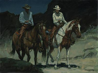 Night Ride Poster by Don  Langeneckert