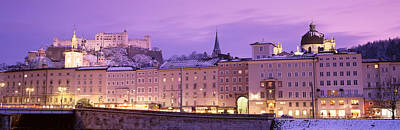 Night Salzburg Austria Poster by Panoramic Images
