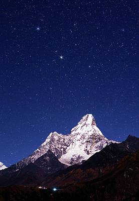 Night Sky Over Mountains Poster by Babak Tafreshi