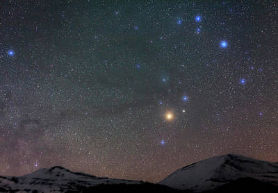 Night Sky Over The Alps Poster by Babak Tafreshi