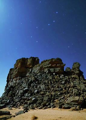 Night Sky Over The Sahara Desert Poster by Babak Tafreshi