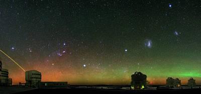 Night Sky Over Vlt Telescopes Poster by Babak Tafreshi