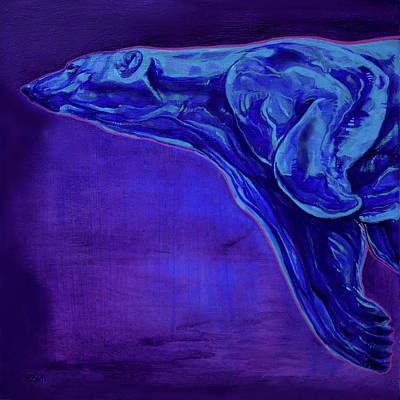 Night Swimmer Poster by Derrick Higgins