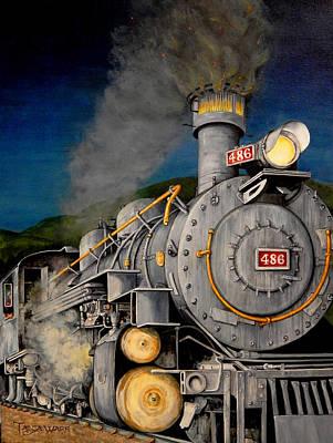 Night Train Poster by Tanja Ware