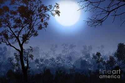 Night Watcher Poster by Bedros Awak