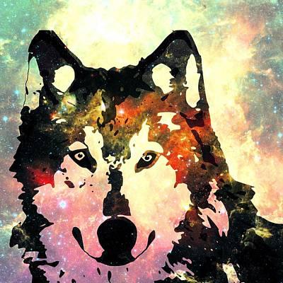 Night Wolf Poster by Anastasiya Malakhova