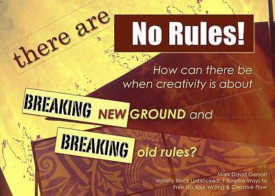 No Rules Poster by Mark David Gerson