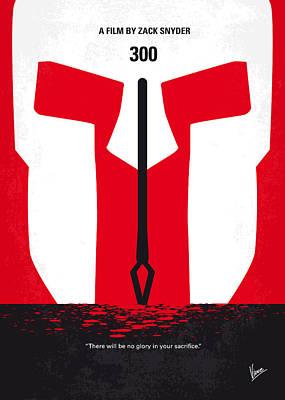 No001 My 300 Minimal Movie Poster Poster by Chungkong Art