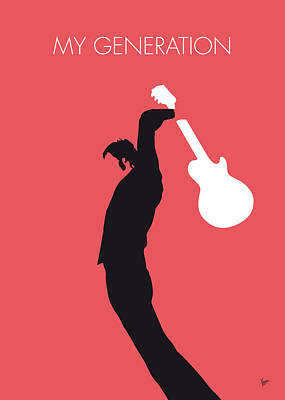 No002 My The Who Minimal Music Poster Poster by Chungkong Art